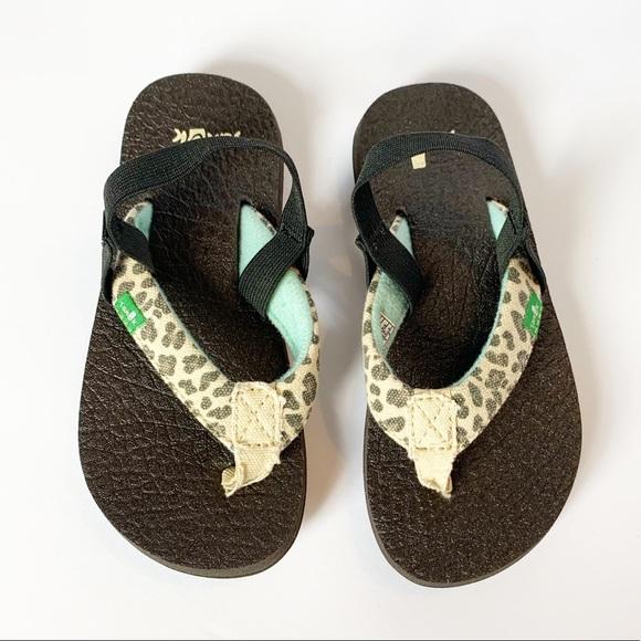 Yoga Mat Leopard Sandals W Ankle Strap